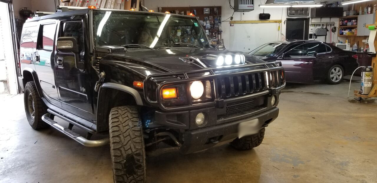 Impact Tint and Audio Hummer H2